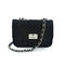 Black quilted sling bag - rings & tings   online fashion store   shop the latest trends