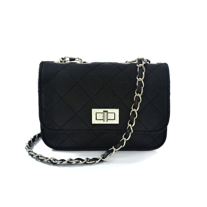 BLACK QUILTED SLING BAG - Rings & Tings | Online fashion store | Shop the latest trends