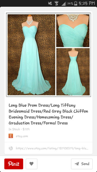 prom dress lightblue
