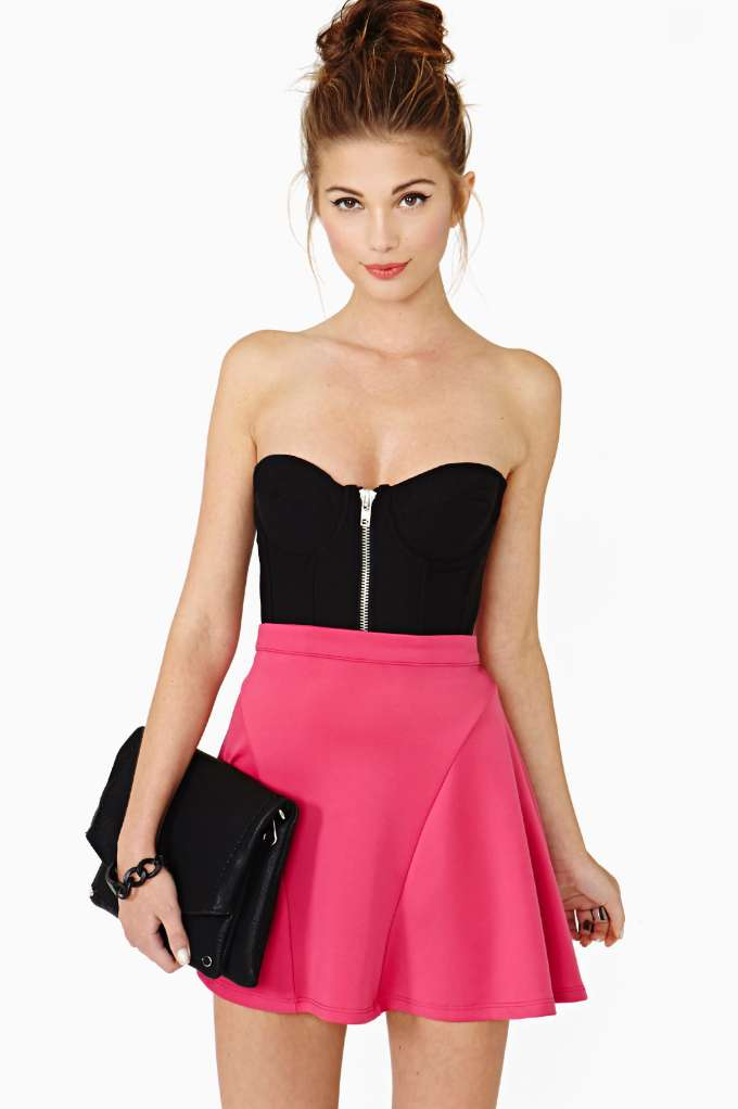 Higher Lover Skater Skirt in  Clothes at Nasty Gal
