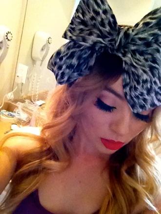 scarf headwrap animal print hair bow forever 21