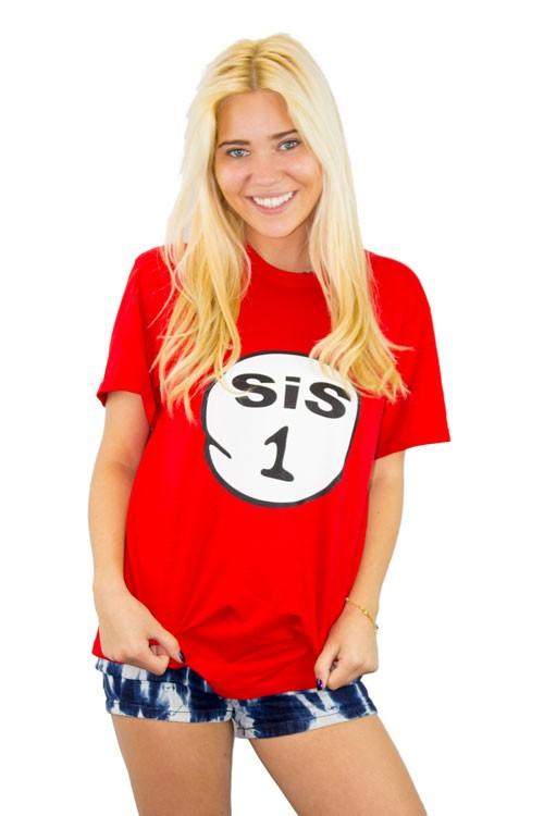 Sis 1 2 3 4 5 6 T-shirt Trendy Tee Shirts