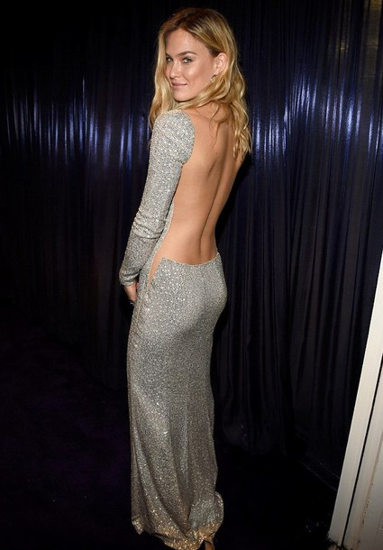 dress bar refaeli golden globes 2015 after party backless dress