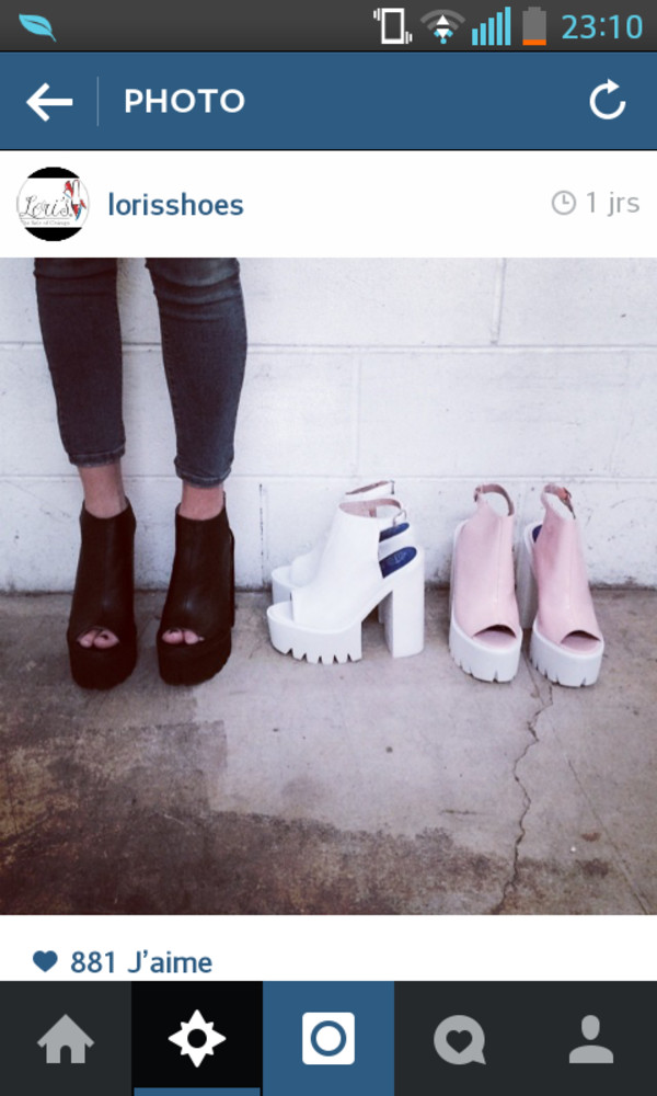 shoes black platform shoes white