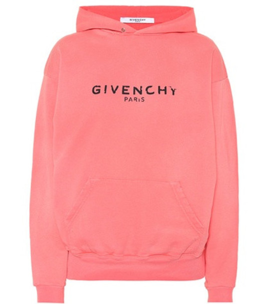 hoodie cotton pink sweater