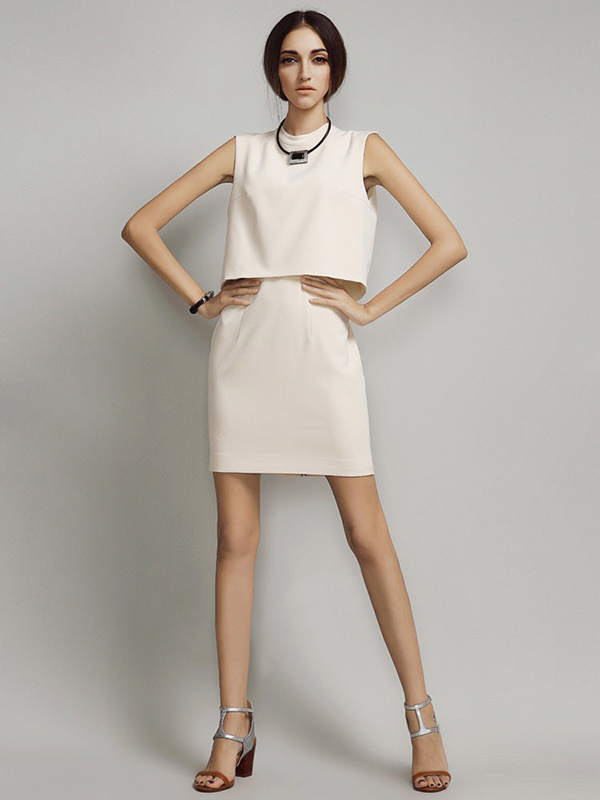 Sheath Mini V Neck Sleeveless Dresses : KissChic.com
