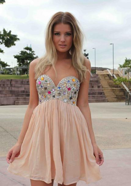 dress jewels prom dress sparkling dress short dress