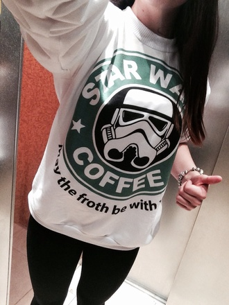 starwars white green black coffee starbucks