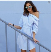 dress,girly,girl,girly wishlist,blue,blue dress,off the shoulder,off the shoulder dress
