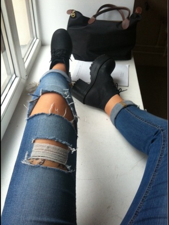 jeans skinny skinnyjeans ripped jeans tumblrjeans ripped jeansripped phone cover shoes