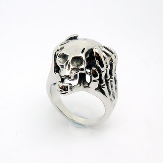 jewels menswear punk skull ring titanium steel skull men and women retro single ring men and women rings