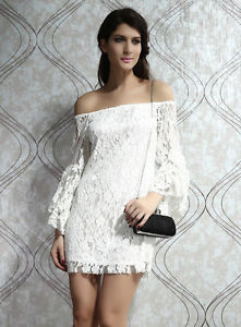 Women Lace Fashion Dress Trumpet Sleeved Dress New Fashion Lady Women Formal Dre | eBay