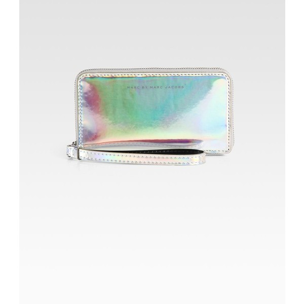 Marc by Marc Jacobs Techno Holographic Leather Wingman Wristlet