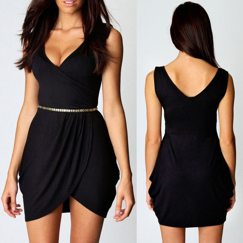 Stylish Women Sleeveless New Summer Clubwear Cocktail Party Evening Short Dress | eBay