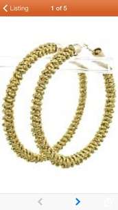 jewels,fancylovejewels,gold,braided,hoop earrings