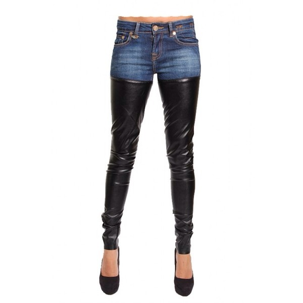 Pants denim leather pants leather jeans jeans jeans leather cute outfits cute beautiful ...