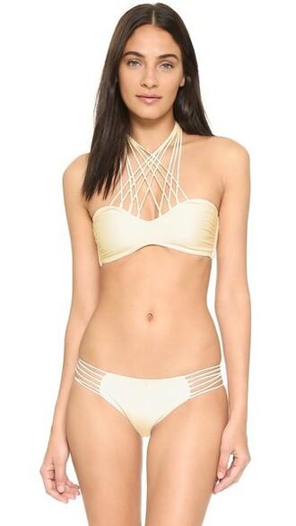 bikini bikini top bandeau bikini swimwear