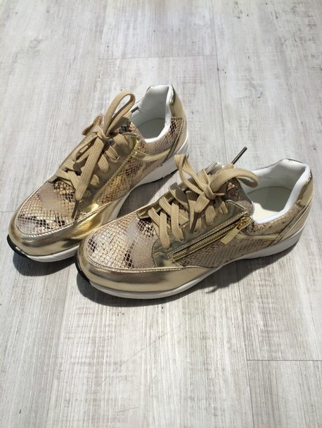 shoes sneakers golden