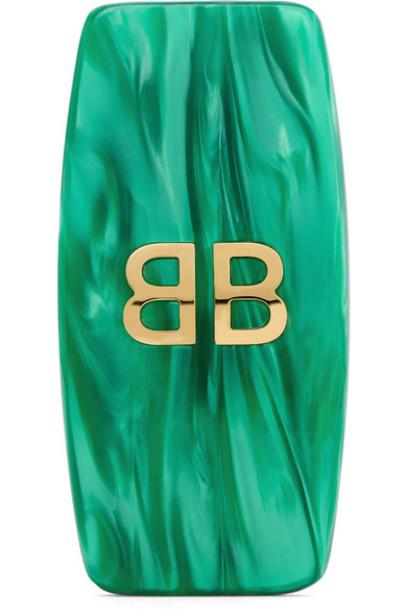Balenciaga gold green jewels