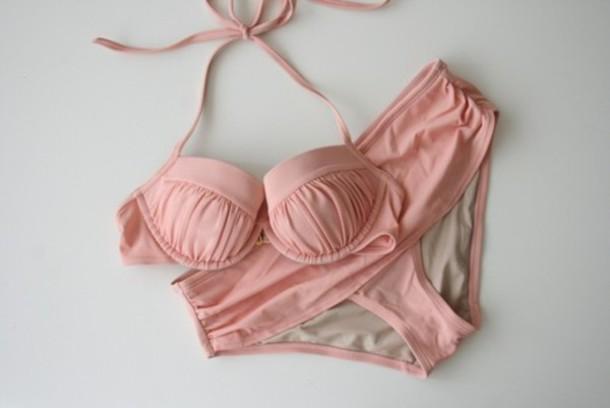 swimwear pink swimwear clothes rose