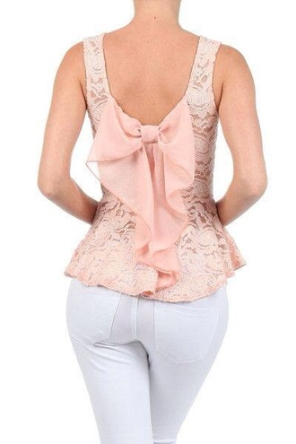 tank top bow back top blouse bow back blouse bow back shirt shirt