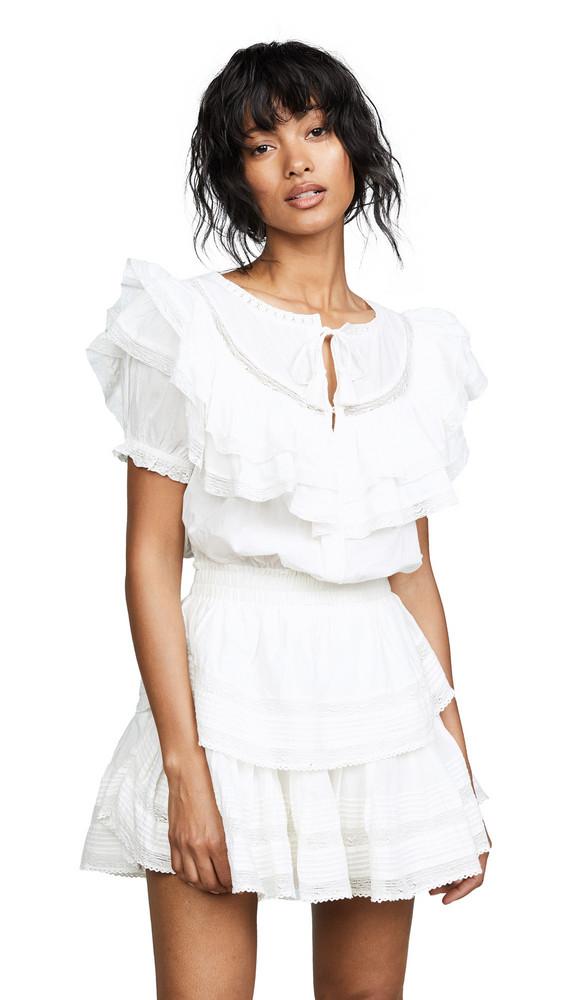 LOVESHACKFANCY Liu Dress in white