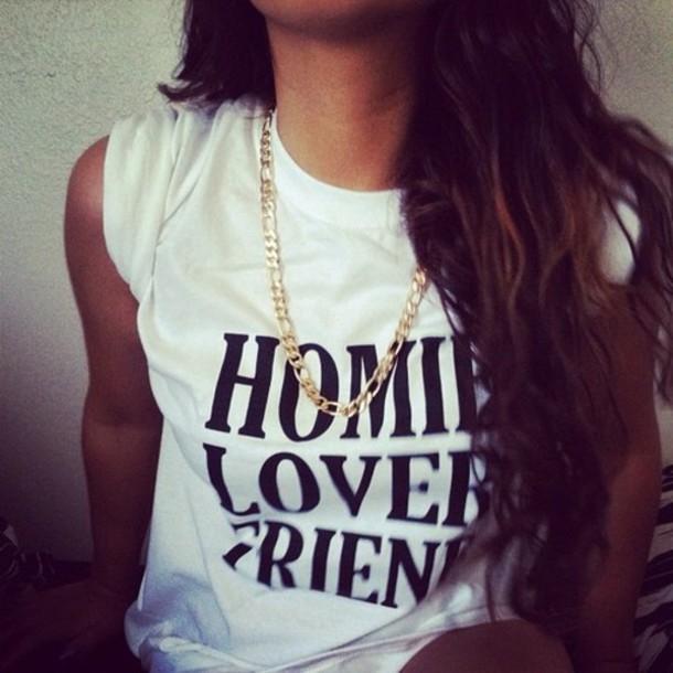 t-shirt clothes white black shirt black and white t-shirt homie homies lover