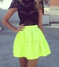5e5b17d973 Neon Green Skater Skirt from Kai Elise Boutique on Storenvy