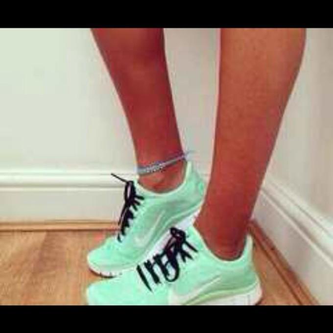 shoes nike running shoes mint green shoes mint nike sneakers kicks