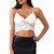 Off White Lace Cropped Top | Emprada