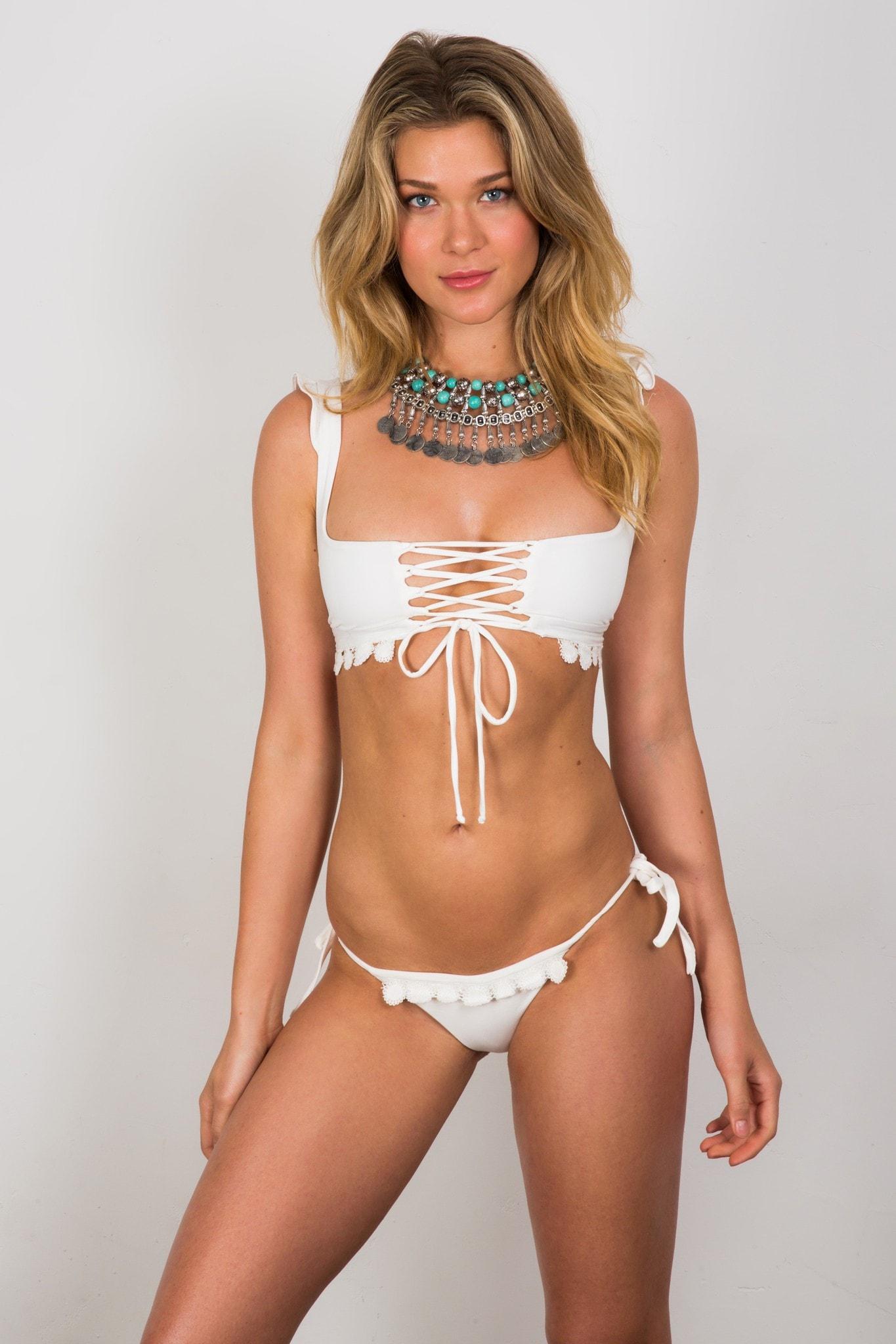 a912e6f436779 Soah Swimwear | Hope Ruffle Bikini Top - White