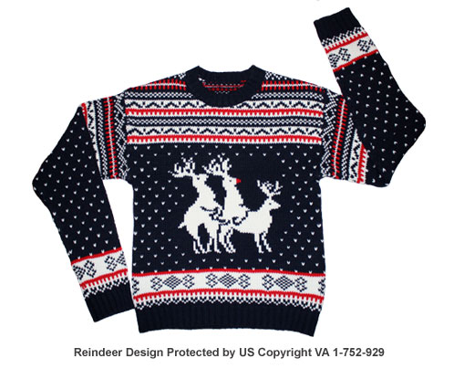 Reindeer threesome sweater (ft. rudolph)