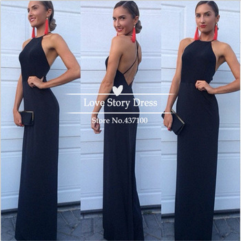 Aliexpress.com : buy 2014 new fashion chiffon halter neckline black a line prom party dress criss cross women long evening dress for special occasion from reliable dress shirt sleeve length suppliers on suzhou lovestory dress store