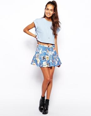 Glamorous | Minifalda de neopreno con estampado floral de Glamorous en ASOS