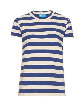 t-shirt shirt cotton t-shirt short cotton white blue top