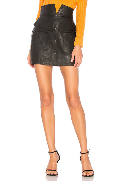 AJE skirt mini skirt mini leather black