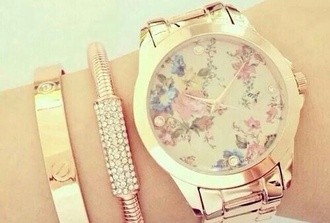 jewels watch floral diamonds