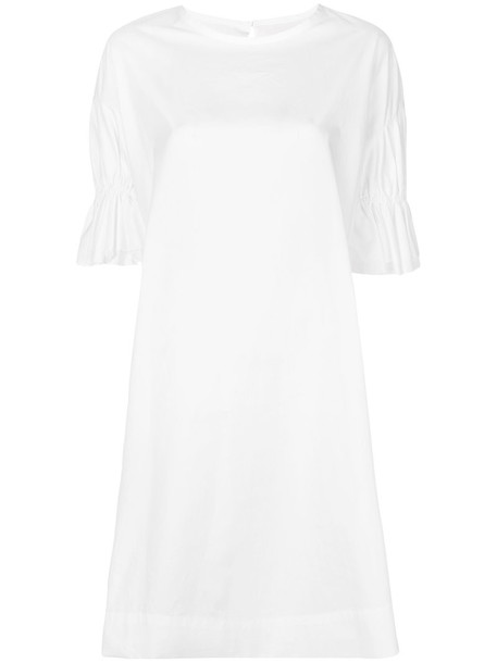 YOHJI YAMAMOTO dress shirt dress women white cotton