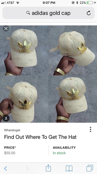 hat gold nude adidas ripped