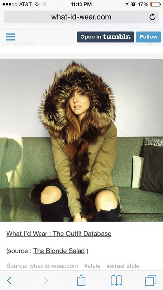 coat green jacket faux fur jacket