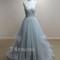 Tulle a-line sweetheart neckline long prom dresses, formal dress - 24prom