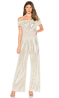 Line & Dot Liza Jumpsuit in Silver from Revolve.com
