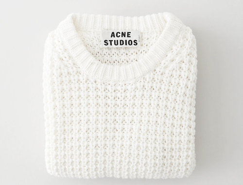 •                  mine sweater white cream knit acne knitwear pullover womens Pull acne studios pineapple sweater             24-hr-v-o-g-u-e  •