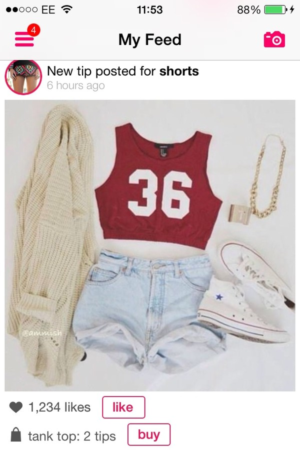 tank top jacket shorts