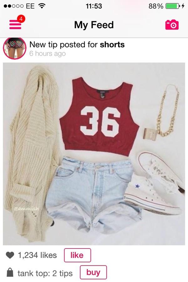 tank top jacket shorts