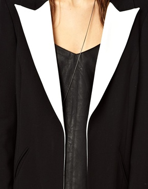 ASOS | ASOS Coat With Contrast Collar at ASOS