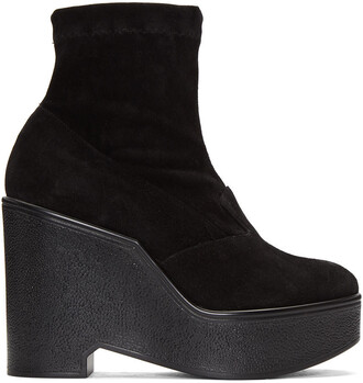 boots suede black shoes