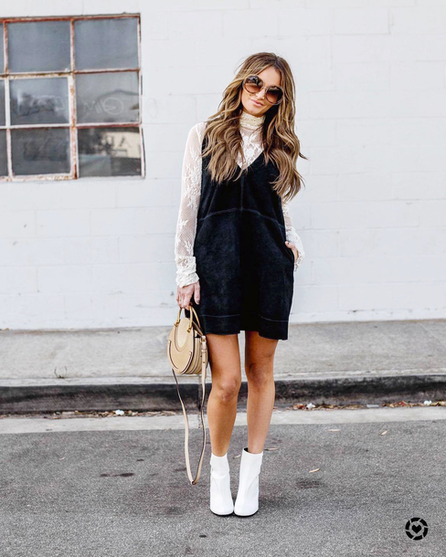 white boots and dress