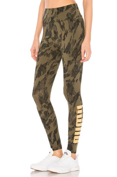 puma green pants