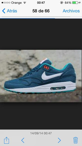 shoes air max cool swag bleu hipster